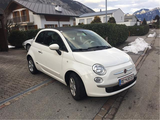 gebraucht 500 cabrio 1 2 lounge fiat 500c 2013 km in reutte. Black Bedroom Furniture Sets. Home Design Ideas