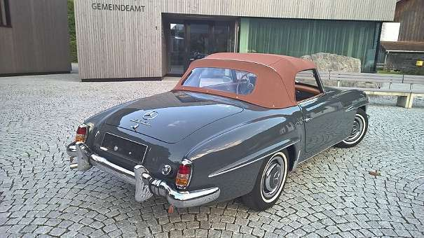 verkauft mercedes 190 sl w121 cabrio gebraucht 1961 1. Black Bedroom Furniture Sets. Home Design Ideas
