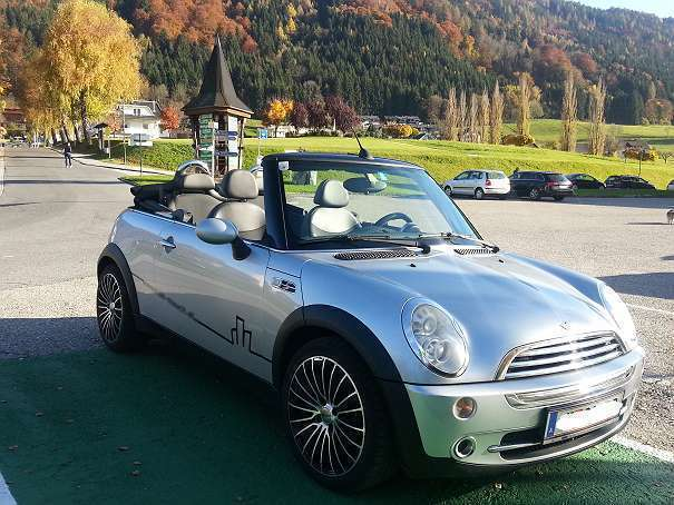 verkauft mini cooper cabriolet cabrio gebraucht 2005 km in villach. Black Bedroom Furniture Sets. Home Design Ideas