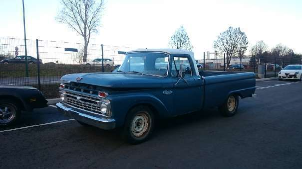 verkauft ford f100 pick up truck picku gebraucht 1966 km in wien. Black Bedroom Furniture Sets. Home Design Ideas