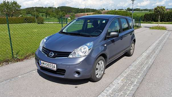 verkauft nissan note 1 4 kombi gebraucht 2009 km. Black Bedroom Furniture Sets. Home Design Ideas