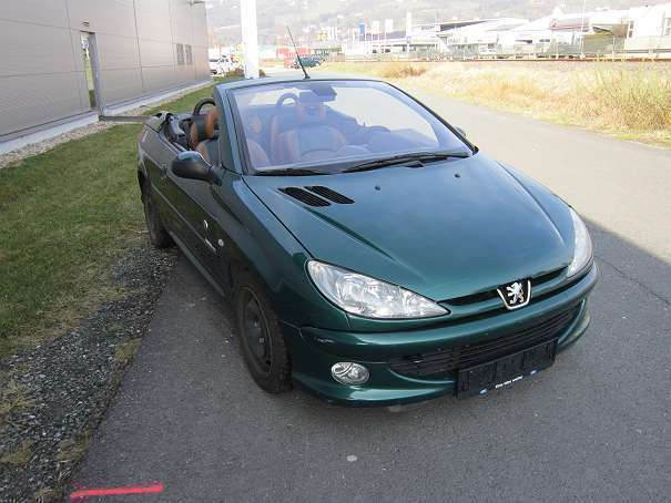 verkauft peugeot 206 cc sondermodell r gebraucht 2002 km in hartberg. Black Bedroom Furniture Sets. Home Design Ideas