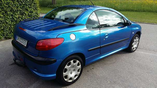 verkauft peugeot 206 cc 206 cabrio 1 6 gebraucht 2002 km in grieskirchen. Black Bedroom Furniture Sets. Home Design Ideas