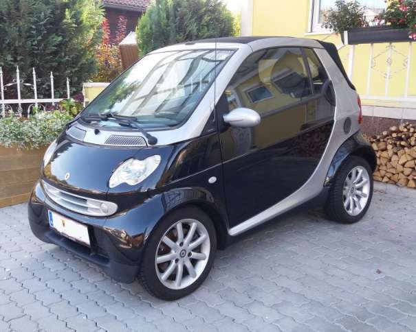 verkauft smart fortwo cabrio cabrio pu gebraucht 2005. Black Bedroom Furniture Sets. Home Design Ideas