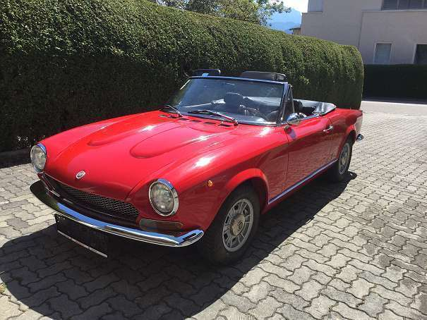 verkauft fiat 124 spider spider bs1 gebraucht 1973. Black Bedroom Furniture Sets. Home Design Ideas