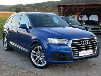 """gebraucht Audi Q7 3,0 TDI quattro Tiptronic 3 x S-LINE MATRIX LEDERSPORTSITZE NAVI PANO 21"""" SUV / Geländewagen"""
