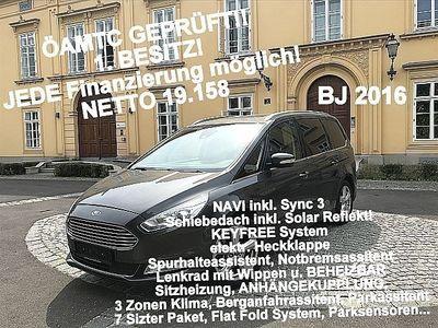gebraucht Ford Galaxy 2,0 TDCi Titanium KEY FREE, Schiebed., Spurhalte, Notbremsa., SYNC3, Navi, Sportfahrwerk, ÖAMTC 1.Besitz