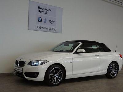 gebraucht BMW 218 2er-Reihe i Cabrio Sport Line Aut. Cabrio / Roadster