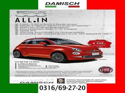 brugt Fiat 500 1,2 Fire 70 Pop ALL.IN € 259.- Monatlich Pop