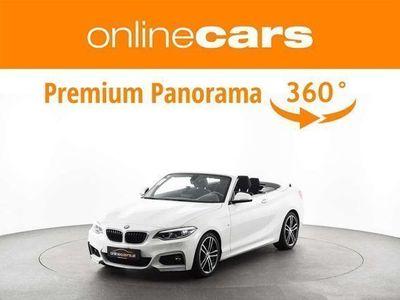 gebraucht BMW 218 2er-Reihe d Cabrio M-SPORT Aut. LED NAVI EXTRAS Cabrio / Roadster