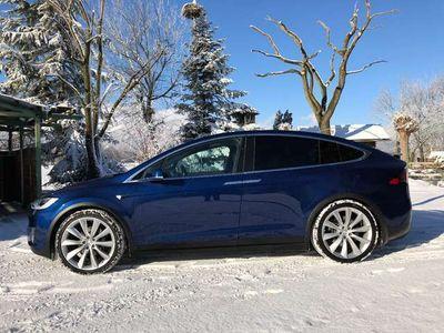 gebraucht Tesla Model X 100D Blue Metalic 6 Sitzer 22 Zoll