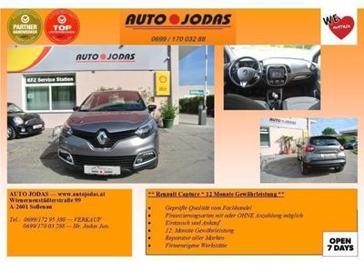 used Renault Captur Expression ENERGY TCe 90**12 Monate Gewähr.**