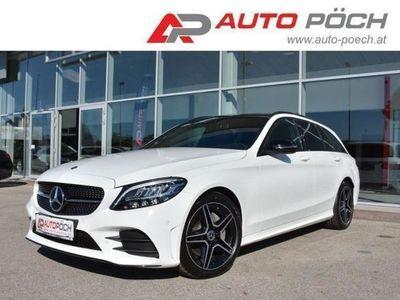 gebraucht Mercedes C200 d T AMG Line 9G-tronic - PANO / NAVI / AHK