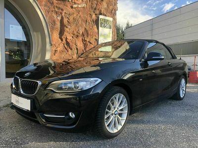 gebraucht BMW 220 2er-Reihe d Cabrio Sport Line Aut. Cabrio / Roadster
