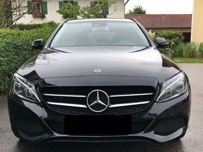 gebraucht Mercedes C220 C-KlasseT Avantgarde, LED, NIGHT, NAVI uvm Kombi / Family Van