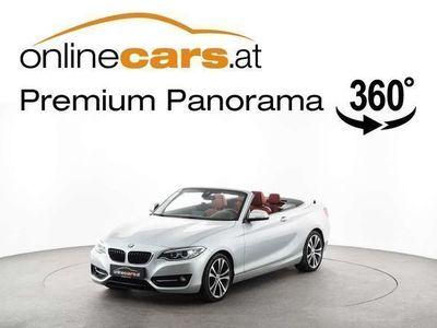 gebraucht BMW 220 d Cabrio Sport Line Aut. NAVI XENON LEDER TEMP SHZ