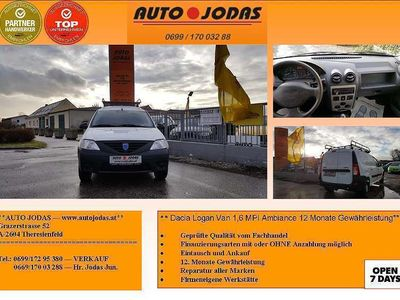 gebraucht Dacia Logan Van 1,6 MPI Ambiance **LKW/12 Monate Gewährleistung** Klein-/ Kompaktwagen,