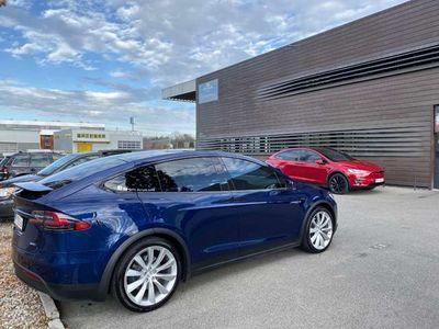 gebraucht Tesla Model X 100D Blue Metalic 6 Sitzer 8 Fach 22 Zoll