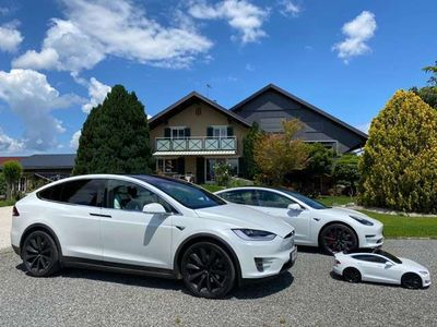 gebraucht Tesla Model X Long Range Plus mit 7 Sitzen