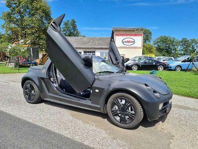 gebraucht Smart Roadster roadster Flügeltüren schwarz matt foliert CABRIO Cabrio /