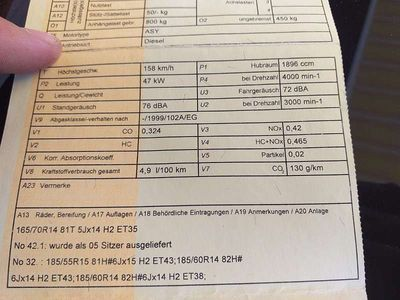 gebraucht Skoda Fabia 1.9 SDI Kombi / Family Van