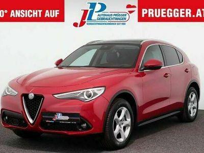 gebraucht Alfa Romeo Stelvio Super 2,2 ATX ALLRAD Autom NAVI LEDER PANO