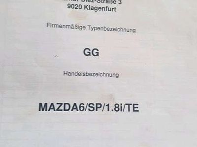 used Mazda 6 1,8 Limousine,