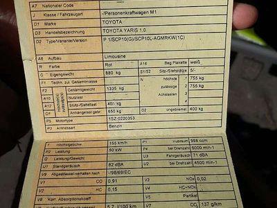 gebraucht Toyota Yaris 1,0 Klein-/ Kompaktwagen