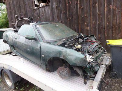 gebraucht MG F Cabrio Unfallfahrzeug Schrottauto ohne Motor Cabrio / Roadster