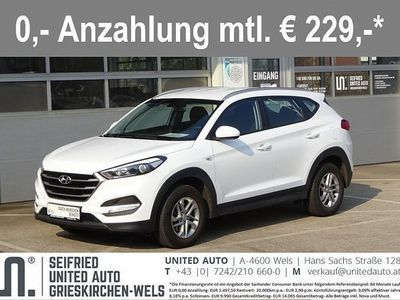 brugt Hyundai Tucson 1,7 CRDI Comfort+*Sitzheizung*Tempomat*8-fach Alu