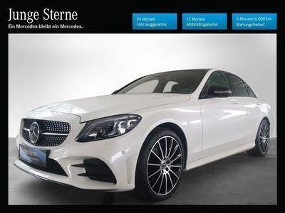 gebraucht Mercedes C220 d 4MATIC Aut. *AMG-Line*Night-Paket*Panoramadach*Distronic*Coman