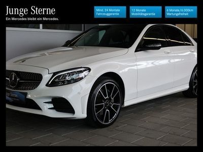 gebraucht Mercedes C220 d 4MATIC Aut. *AMG-Line*Night-Paket*Panaoramdach*Keyless-Go*u.v.m.*