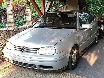 gebraucht VW Golf Cabriolet 4 mit Tieferlegung für Liebhaber oder Teile