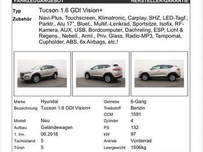 gebraucht Hyundai Tucson Zu verkaufen: 1,6lt 8fach Bereift Sfr. 17?500.-