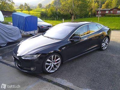 gebraucht Tesla Model S P90D Schwarz/Beige AP1