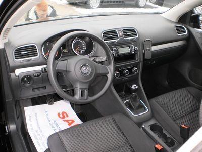 gebraucht VW Golf VI 1.6 TDI Trendline BlueMotion 1.Hand