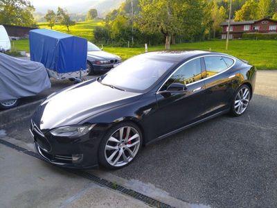 gebraucht Tesla Model S P90D Schwarz/Beige AP1 mit Arachnid Felgen