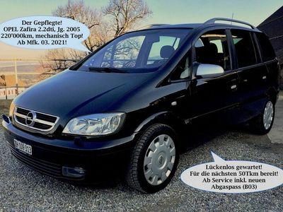 gebraucht Opel Zafira 2.2dti Top gepfl. ab gr. Service & Mfk. 03.21!