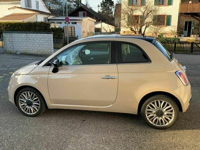 gebraucht Fiat 500 Twinair 0.9 Cult - Farbe cappucino-beige