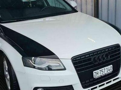 gebraucht Audi A4 A4 Schickerweiss schwarz