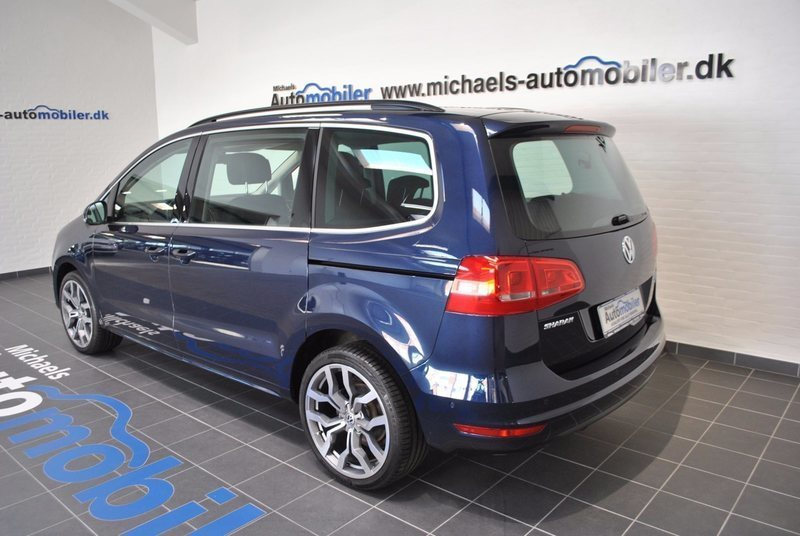 solgt vw sharan 2 0 tdi 140 comfort brugt 2014 km i varde. Black Bedroom Furniture Sets. Home Design Ideas