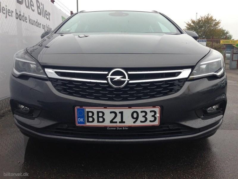 Solgt Opel Astra 1,4 Turbo Enjoy S., brugt 2016, km 26.912 i Sjælland