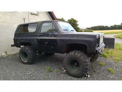 Solgt Chevrolet Blazer 57 K5 Hardt Brugt 1979 Km 150000 I