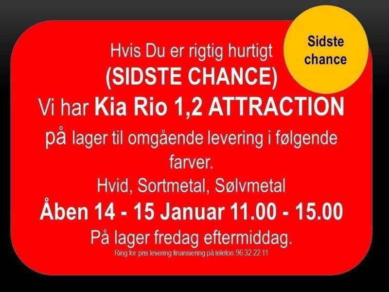 brugt Kia Rio · 1,2 CVVT Attraction · 5 d¸rs
