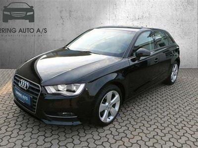 brugt Audi A3 Sportback 1,4 TFSI Ambition S Tronic 125HK Stc 6g Aut. - Personbil - sort