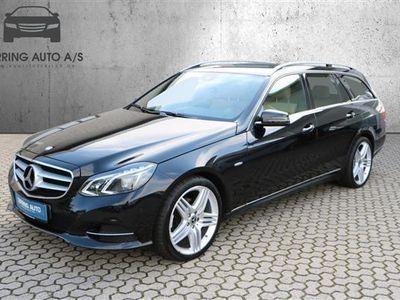 used Mercedes E220 2,1 Bluetec 9G-Tronic 170HK Stc 9g Aut. - Personbil - sortmetal