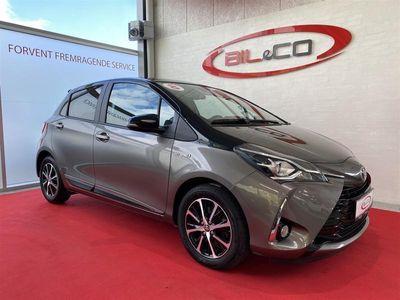 brugt Toyota Yaris 1,5 B/EL H3 Premiumpakke E-CVT 100HK 5d Trinl. Gear