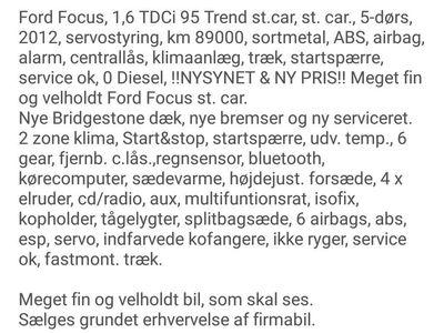 brugt Ford Focus St var, Trend.