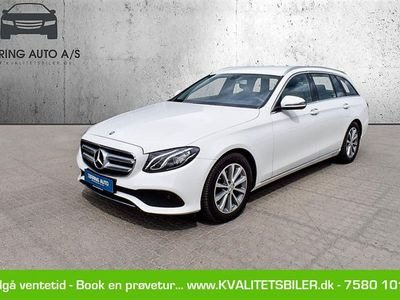 brugt Mercedes E220 T 2,0 D 9G-Tronic 194HK Stc 9g Aut. - Personbil - hvid