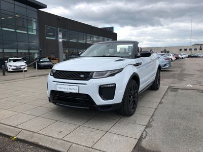 brugt Land Rover Range Rover evoque 2,0 Si4 HSE Dynamic Pack 4x4 240HK Cabr. 9g Aut.
